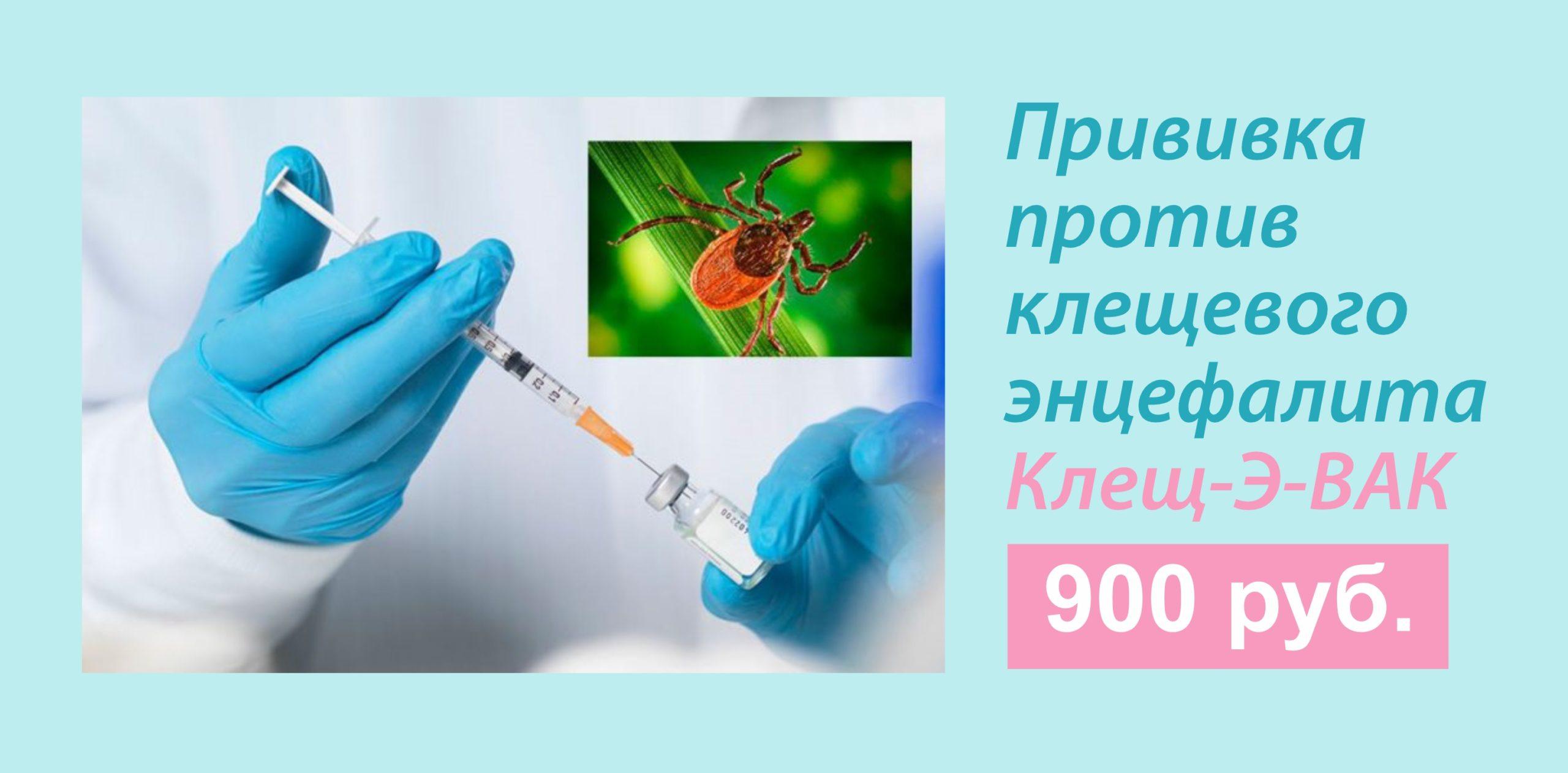 Вакцина Клещ-Э-ВАК стоимость 900 руб.